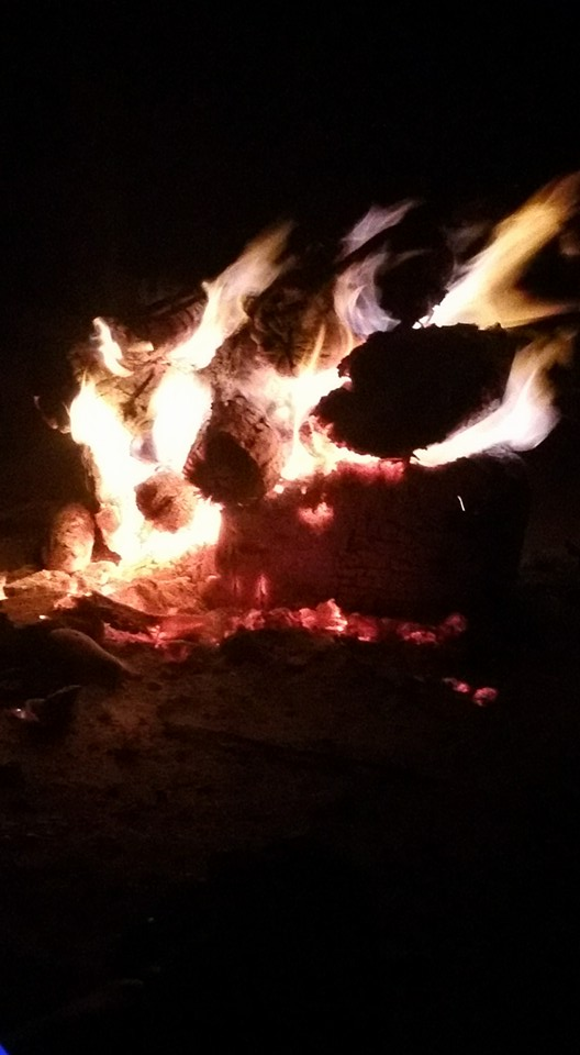 Burning something that is holding us back at the campfire