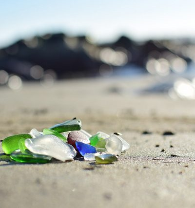 Like seaglass getting etched by the sand, so are choices made after grief.