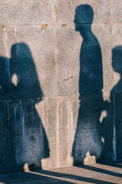 family shadows on wall