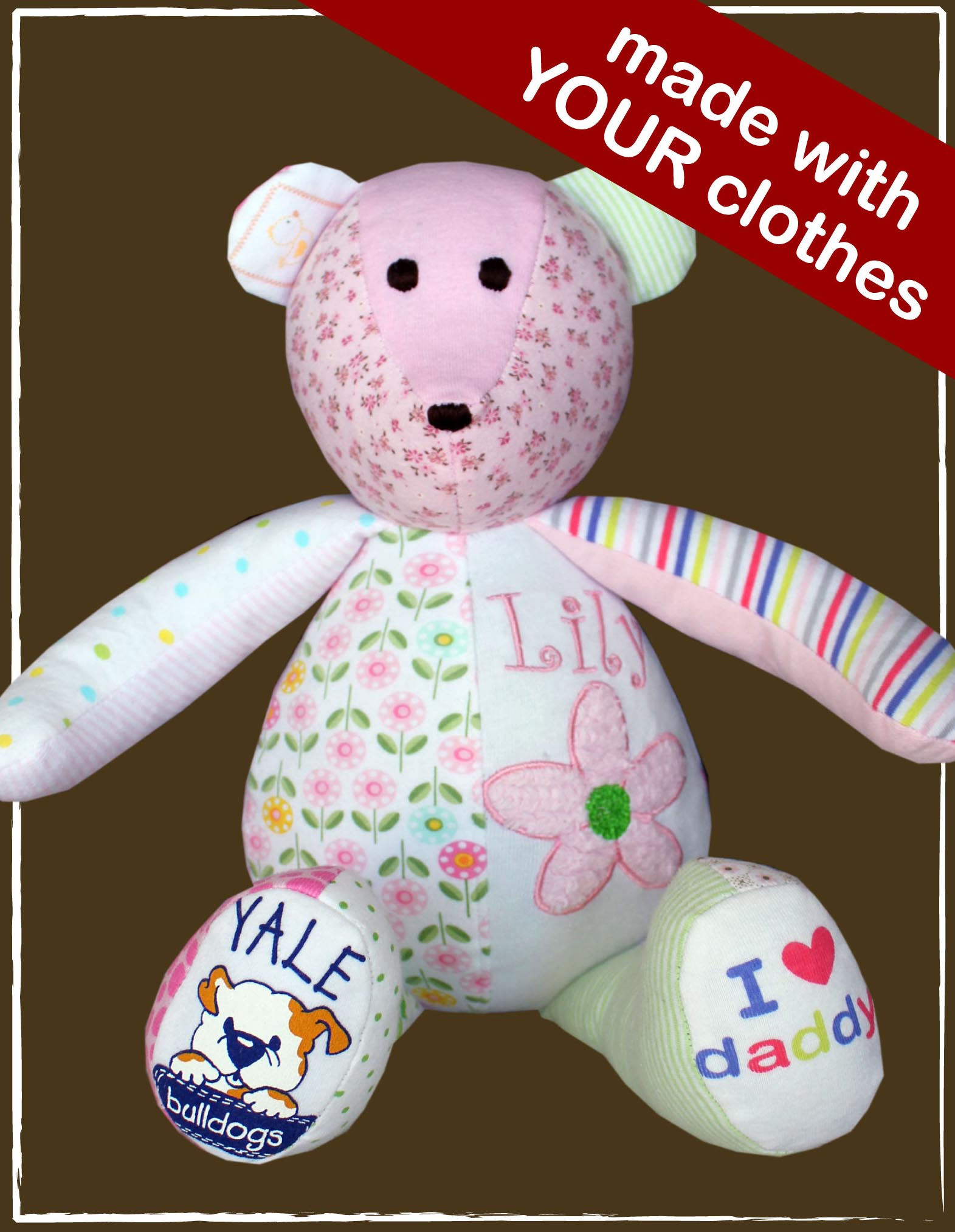 GIVEAWAY: Baby Clothes Into a Memory Bear With The Patchwork Bear