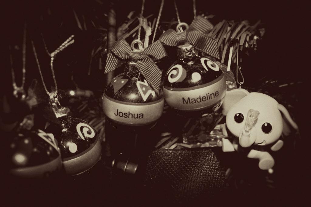 Christmas Ornaments with Names Joshua and Madeline