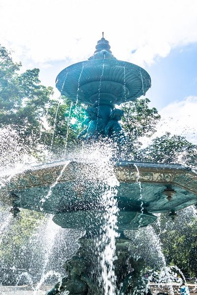 Losing the magic of fountain wishes.