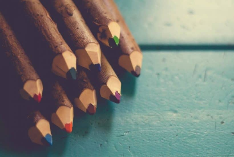 First Day of Kindergarten Colored Pencils