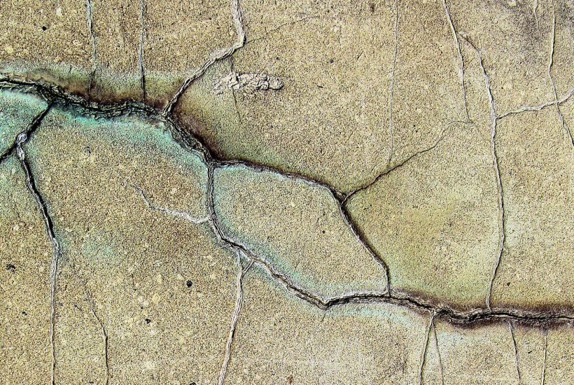 Cracked stone (An Earthquake of Grief)