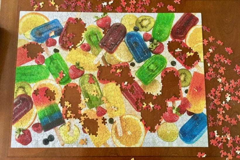 puzzle of popsicles left unfinished