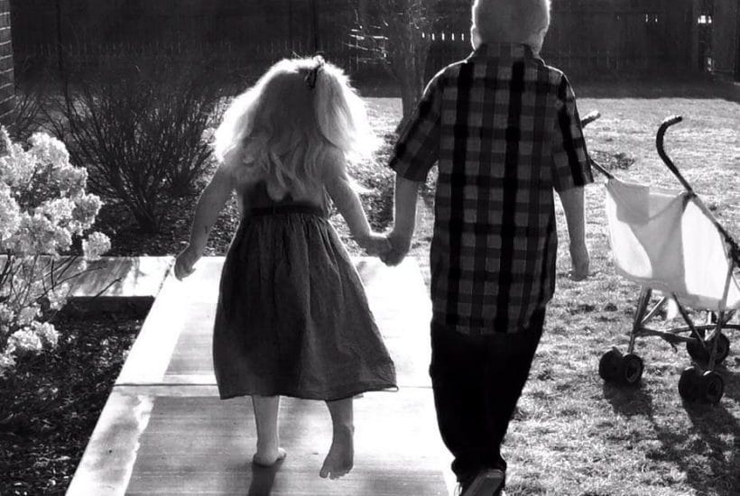 two children walking