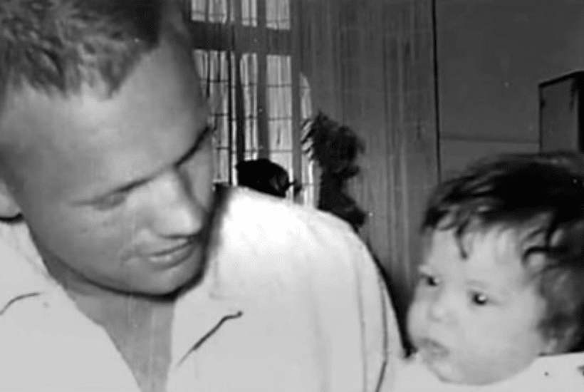 Neil Armstrong with daughter Karen