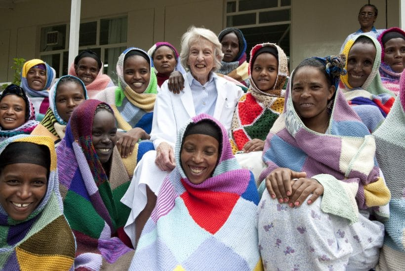 Founder of the Hamlin Fistula Hospital in Addis Ababa, Ethiopia, Dr Catherine Hamlin